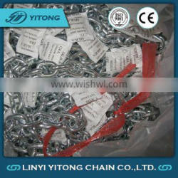Forged Galvanized g80 Lifting Chain For Conveyors With Clutch Hook