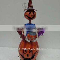 wrought Iron witch harvest pumpkin Halloween painted craft wholesale