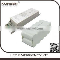 emergency module and emergency battery pack for downlight