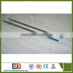 Green painted Q235 steel studded metal T Post