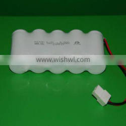 D 6000mAh emergency lighting 70 degree high temperature rechargeable NI-CD battery pack