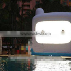 White Inflatable Movie Theater Screen for Sale/Inflatable Outdoor Cinema Screen