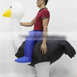 HI CE hottest ride on ostrich costume cheap inflatable animal costumes for adult