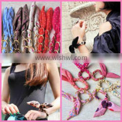 2013 Hot Sale Bow Bracelet Festival Fabric Wristbands Hair Bows Wholesale