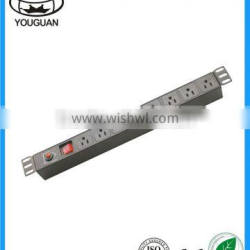 19''US type 8 ways PDU with switch and overload protection