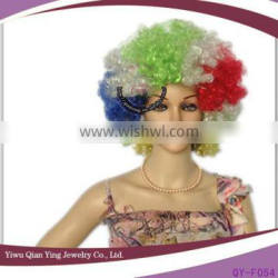 cheap mixed color synthetic big afro party wig