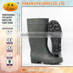 Green black cheap PVC Safety rain Boots