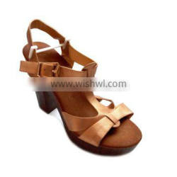 new brand sexy high heel sandal women sexy band Rome sandal female mixed strip color summer wooden high heel shoes