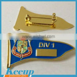 High quality flag sharp cheap custom made metal security pins badges