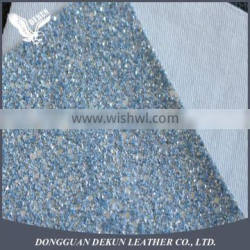 China best glitter manufacturer with all kinds of glitter PU synthetic leather for shoes, bags, boxes, cases, and book cover