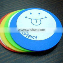 Plastic Rubber Coaster for Coffee and Tea