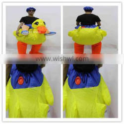 New arrival!!!HI CE inflatable duck costume with Preferential price,inflatable costume for adult