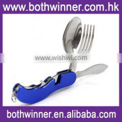 Outdoor flatware set ,H0T211 multifunction camping cutlery for sale