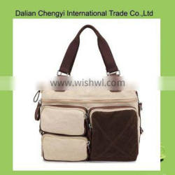 Factory price square pattern men outdoor sport luggage travel tote bag