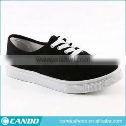 2016 hot selling cheap plain pure color student canvas sports shoes with flat sole