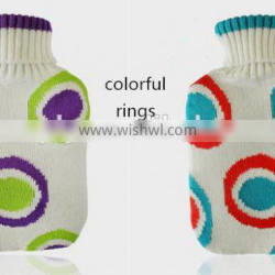 PVC hot water bottle classic big with knitted cover 1800ml