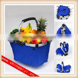 High quality collapsible market tote shopping basket wholesale