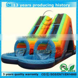 double lane inflatable water tunnel slide for sale