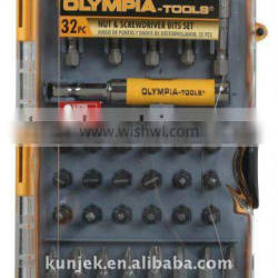 30PC SPADE, DRILL AND DRIVER BIT SET