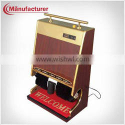 Hotel Auto Industrial Fiberboard Bristle Shoe-Cleaning Machine with Handle
