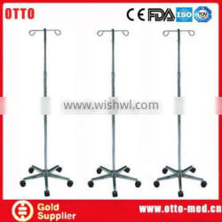 Stainless steel hospital drip stand