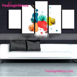 Stylish 3D Oil Canvas Custom Wall Abstract African Paintings