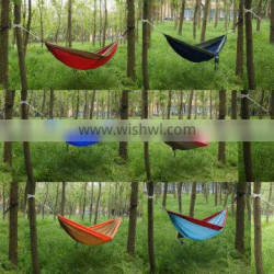 Solid Nylon Hammock Easy to Carry Collapsible Parachute Nylon Hammock
