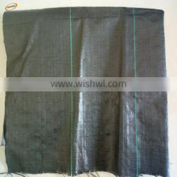 Used PP weed control mat ground cover, silt fence black woven fabric mat
