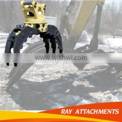 CE approved excavator grapple bucket hydraulic log grab and hydraulic wood grapple