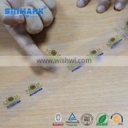 SINMARK Waterproof Transparent Product Label Roll Sticker Printing Roll Label