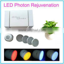 Purple Blue Red Yellow LED Photon Therapy Beauty Machine with Vibration