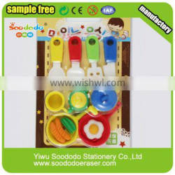 3D cooker shaped erasers puzzle rubber stationery