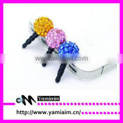 New Girl 3.5mm Crystal Dust-proof Plug Earbuds Stopper Cap For iPhone HTC