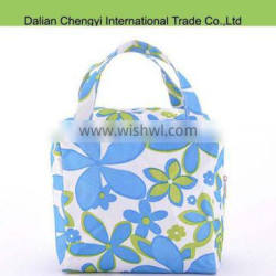 Wholesale portable floral printing lunch bags