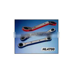 PLUM BLOSSOM SHAPED EDGE-COVERED DOUBLE HEAD RATCHET WRENCH