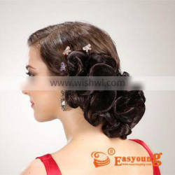 Rose hair flowers suppliers, wigs wig hair accessories, salon synthetic hair piece for updo