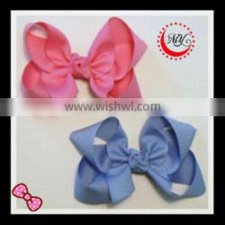 Pink and Blue Plain Grosgrain ribbon Hair Accessories (approved by BV)