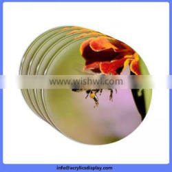 China gold manufacturer competitive acrylic coaster with napkin holder