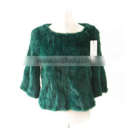 New Style ladies` mink fur top coat with 3/4 long sleeve,KZ14083