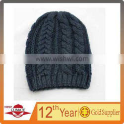 100% women's acrylic cable fish beanie