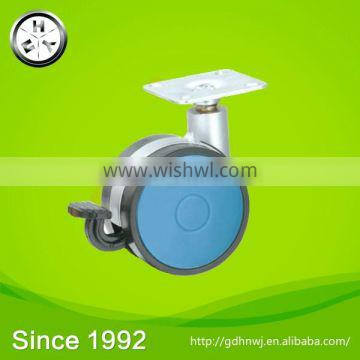 With ISO certificate Swivel top plate PA furniture screw plate casters with brake(FC4111A)