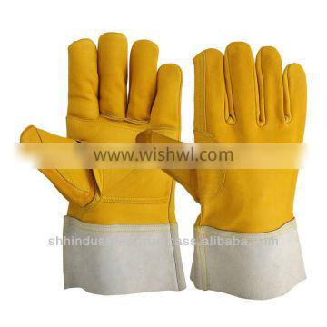 Yellow Cow Grain Leather Welding Gloves