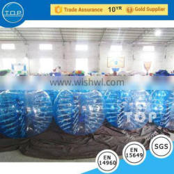 Good quality soccer dummy bubble inflatable bumper ball for fun