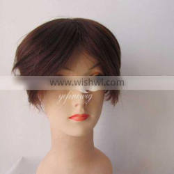High quality medium brown hair toppers best natural indian hair