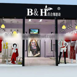 Produce retail store display, lady clothes fixtures