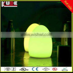 Party Table Decorative Glowing Lamp RGB Colors Changing Egg Shape Lamp Outdoor LED Night Lamp with Remote Control