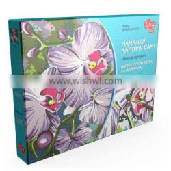 """ART KIT, acrylic painting by numbers, """"Orchid flower"""""""