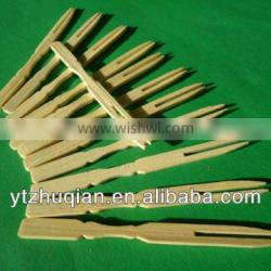 high quality bamboo fruit fork and spoon knife