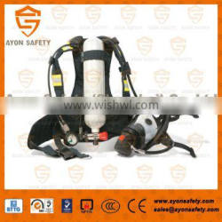 EN 137 Self contained breathing apparatus (SCBA) with 3L Carbon fiber cylinder for military using - Ayonsafety