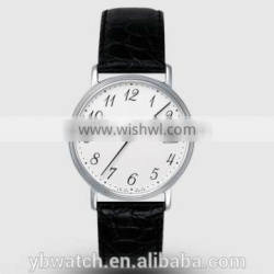YB watch with customers logo genuine leather case customizable watch 2016